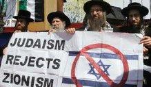 Rabbis demonstrating against Isreal
